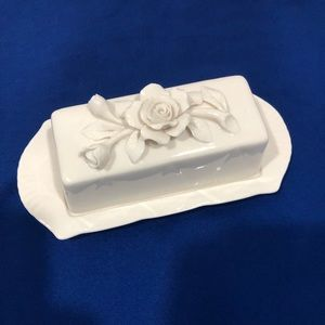 Other - Victorian Rose butter dish